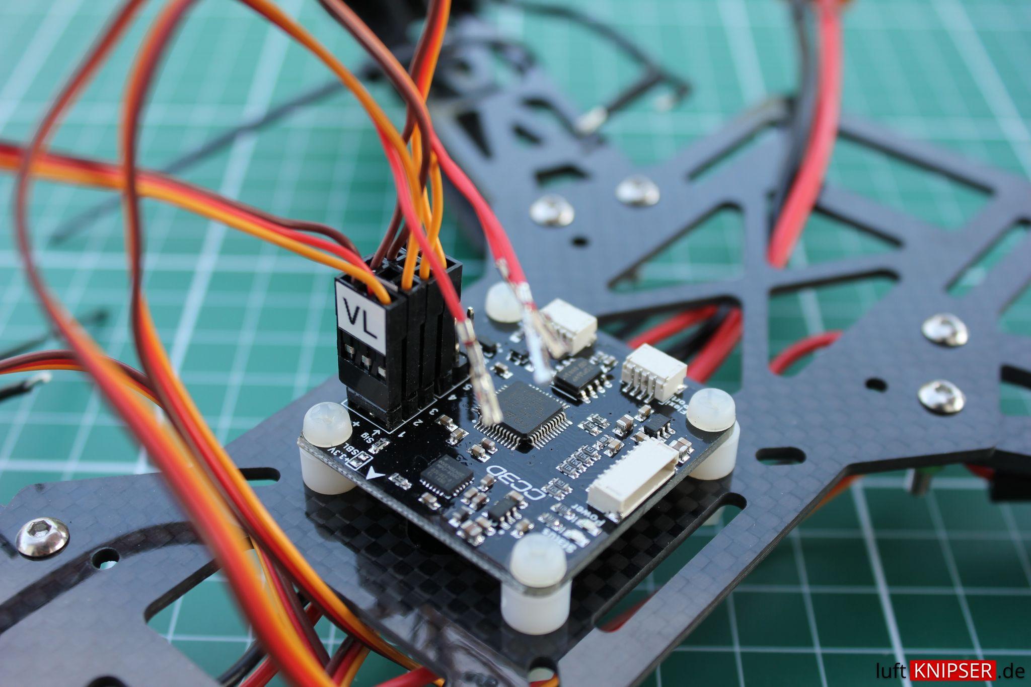 Zusammenbau Des Nighthawk 250 Fpv Racer Mit Spektrum Empfnger Cc3d Wiring Diagram Esc Kabel Am Anschlieen