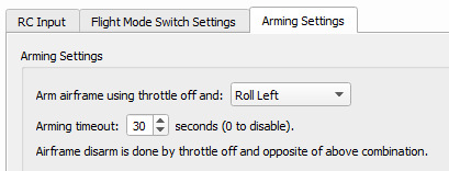 OpenPilot Kopter scharf schalten