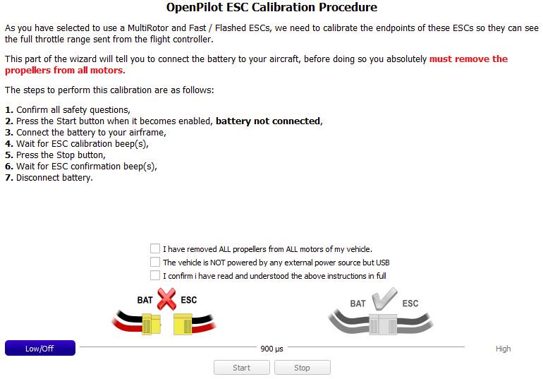 OpenPilot ESC anlernen