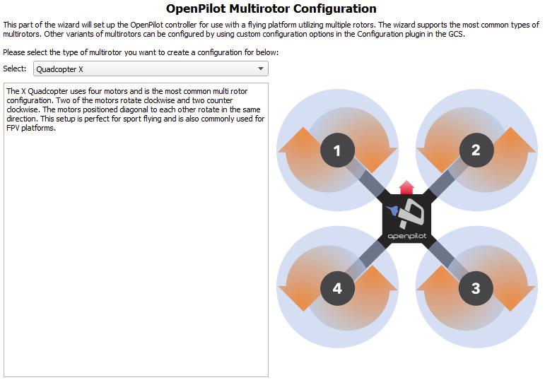 OpenPilot Multirotor Typ
