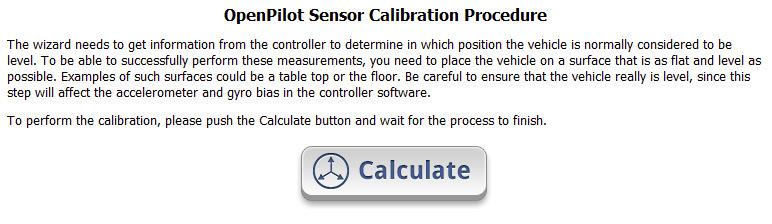 OpenPilot Sensor Calibration
