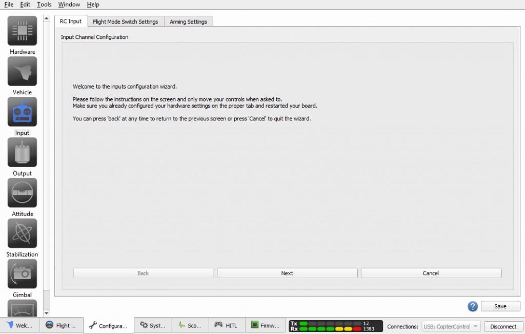 OpenPilot RC Setup