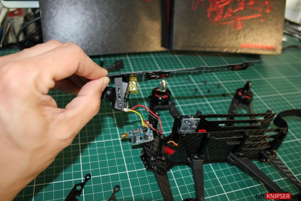 Skycam und Antennenhalter