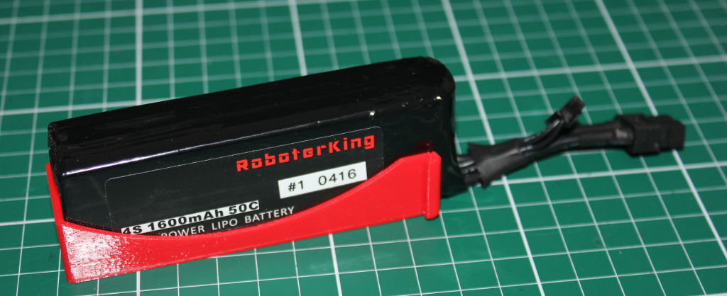 Lipo Schutz aus dem 3D Drucker für den Roboterking 210