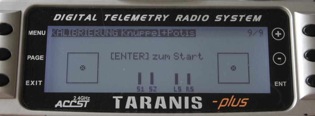 Kalibrierung Knüppel und Potis bei der Taranis X9D plus