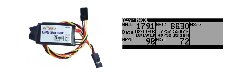 FRsky GPS Sensor Daten in der Taranis anzeigen