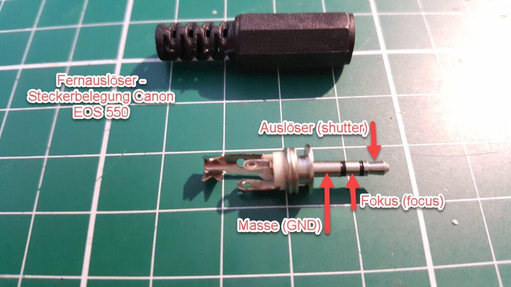 Fernauslöser Steckerbelegung Canon EOS 550