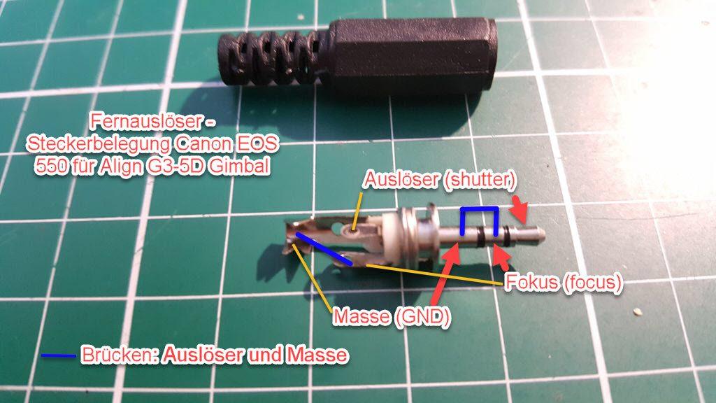 Canon EOS 550D Fernauslösekabel für Align G3-5D Gimbal